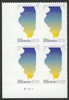 #5274 Illinois Statehood, Plate Block [LL], Mint **ANY 4=FREE SHIPPING**