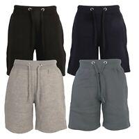 Boys Kids Sweat Shorts Fleece Jogging Gym Sports Running Zipped Pockets Sizes