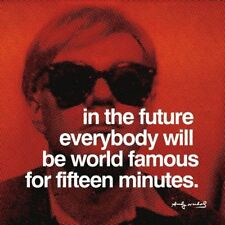 ANDY WARHOL - In the future everybody will be world Art Print Quote Poster 24x24