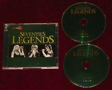 2CD SEVENTIES LEGENDS CAPITAL GOLD QUEEN JACKSONS ELO LENNON MCCARTNEY BOWIE ++!
