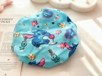 Mickey Stitch Melody Anime waterproof Shower Caps cap Bathing Hat Hairband new