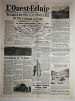 N1146 La Une Du Journal L'ouest-éclair 15 juin 1940 troupes Paris devastation