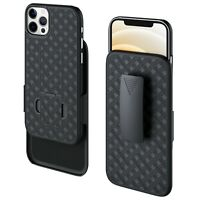 "Holster Combo Case for iPhone 12 Pro Max 6.7"" Armor Protective Full-Body Cover"