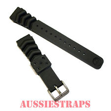 SEIKO Z20 Rubber Strap 20mm Divers Watch Band Wave Vent Dive SKX013 / 015 / 023