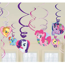 My Little Pony Party Supplies Swirl Decorations 12ct