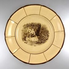 "Rare Antique French Plate, K & G (Keller et Guérin), Lunéville, ""May"", 1840-1850"