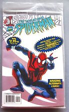 SENSATIONAL SPIDER-MAN #1 WHITE VARIANT COVER - SEALED WITH TAPE - VERY SCARCE!!