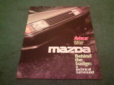 SEPTEMBER 1982 MAZDA AUTOCAR Reprint BEHIND THE BADGE 24pg BROCHURE 323 626 RX7