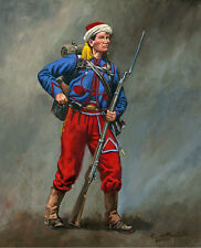 Mark Maritato Civil War Soldier 5th NY Vet Volunteers Zouave Signed Art Print