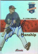 Jeff Manship Minnesota Twins Tristar Signed Card GFA