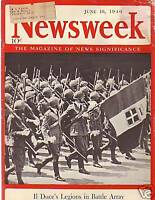 1940 Newsweek June 10-Nazis bear down on France; Narvik