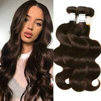 Dark Brown #2 Body Wave Hair 150G/3Bundles Brazilian Human Hair Weave Extensions