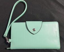 Lodis Wristlet Wallet Tiffany's Robins Egg Blue Leather Designer