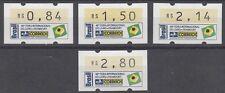 BRASILIEN, 1994 Automatenmarken 6 zur Frankfurter Buchmesse **, (23149)