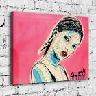 """34x24"""" Alec Monopoly """"Kate Moss"""" HD print on canvas rolled up contemporary art"""