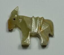 "Hand Carved Onyx Stone Burro Donkey Mule Figurine 1-3/4"" Tall Nativity Mexico"