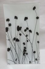 """Artist Molly McCall """"Renew"""" Botanical Photogram Fused Glass Plate Handcrafted"""