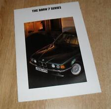 BMW 7 Series E32 Sales Brochure 1992 730I 735I 735IL
