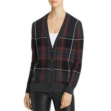 Private Label Womens Plaid Button Front Cardigan Sweater Jacket BHFO 8744