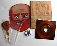 """GENTLE GIANT Giant For A Day 1978 US PROMO Marketing KIT + 7"""" + Mask + Lollipop"""