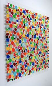 Original Modern Wall Art Abstract Painting MCM Wallhanging Artwork new signed