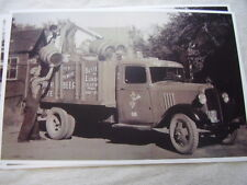 1934 CHEVROLET STAKE TRUCK FULL BEER KEGS  11 X 17  PHOTO  PICTURE