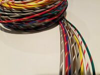 LOT C 14 AWG GXL HIGHTEMP AUTOMOTIVE POWER WIRE 8 STRIPED COLORS 10 FT EA