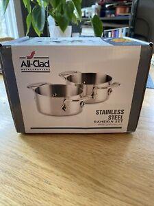 All-Clad Stainless Steel 1/2 qt. Soup/Souffle Ramekins, Set of 2 NEW