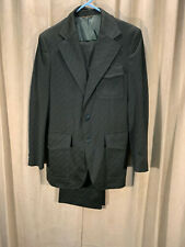 Mens Vtg 60s Marx Haas 2 Piece Western Suit Green Geometric 38R Pants 32-33