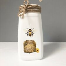 handmade Recycled Jar Save The Bees Storage Jar Flower Vase Room Decor