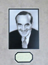 "Al Jolson Photo and Autographed 5"" x 2 1/4"" Paper Custom Matted"