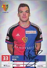 FOOTBALL carte joueur KEVIN BUA équipe FC BASEL 1893 signée