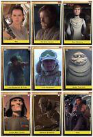 Topps Star Wars Card Trader Nine Bronze Cards Rey Finn Luke Skywalker