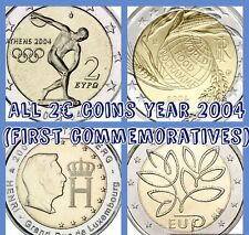 More details for eu coins x4 2€ euro 2004 set all first comm. new unc coins italy finland lux gre