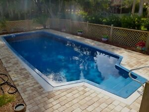 Fiberglass ground pool mid-sized 14 x 35  -  shell only - Free delivery by 2-18
