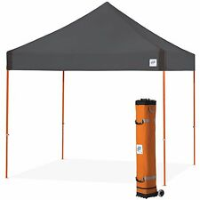 E-Z UP Vantage Canopy Instant Shelter 10ft x 10ft Gazebo Tent - Steel Grey