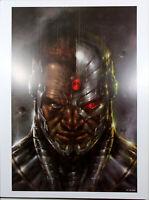 "CYBORG ART PRINT by Lucio Parrillo ~ 12"" x 16"" ~ DC Year of the Villain"