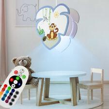 Lámpara Colgante LED REGULADOR mono motivo de colores niños juego habitación RGB