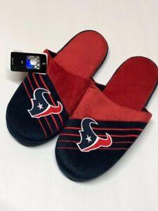 Houston Texans Mens Slippers - Red/Dark Blue