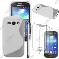 Coque Silicone Transparent Samsung Galaxy Ace 3 S7270 + Stylet + 3 Films