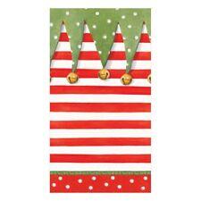 Caspari Paper Guest Towel Napkins, Stocking Stripe, 2 Packs (14080G)