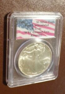 1993 American Silver Eagle World Trade Center Ground Zero Recovery PCGS Gem Unc