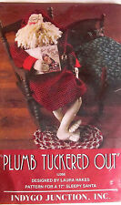 "Indygo Junction ""Plumb Tuckered Out"" 17"" Sleepy Santa Doll Pattern"