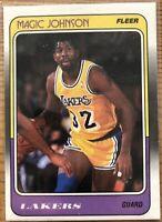 Magic Johnson 1988/89 Fleer #67of132 LA Lakers 80s HOF MVP Hot Set 🔥