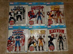 Marvel Legends Retro 6 Spider-Man Iron Man Cap America Black Widow Wolverine etc