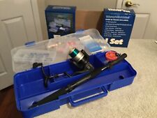 FISHING TRAVEL SET Telescoping Rod & Reel. Includes Case And Supplies. NEW.