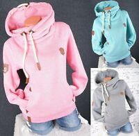Damen Hoodie Kapuzenpullover Sweatshirt warmer Fleece Pulli M L XL 2XL 3XL