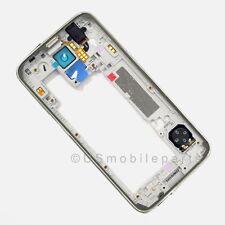 Silver Samsung Galaxy S5 G900H G900M G9001 Back Middle Frame Bezel Camera Lens