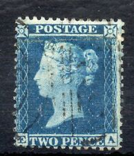 Gb Great Britain 1854 2d Penny Blue Perf 14 Fine Used