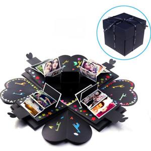 DIY Surprise Explosion Box Memory Scrapbook Photo Album Kits Anniversary Gifts